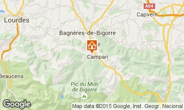 Carte Bagnères de Bigorre Gite 70295
