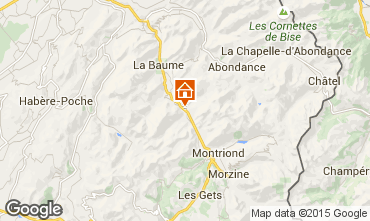 Carte Saint Jean d'Aulps- La Grande Terche Chalet 27503