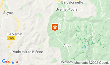 Carte La Foux d'Allos Studio 3204