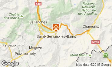 Carte Saint Gervais Mont-Blanc Chalet 101701