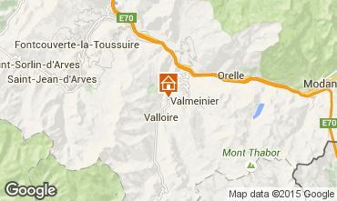 Carte Valloire Chalet 3392