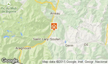 Carte Saint Lary Soulan Gite 65220