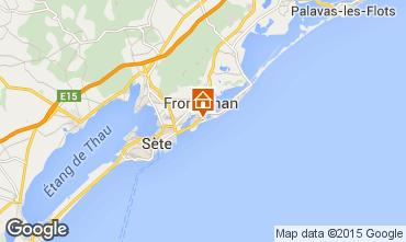 Carte Frontignan Villa 78184