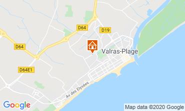 Carte Valras-Plage Villa 100786
