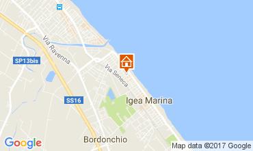 Carte Bellaria Igea Marina Appartement 107982