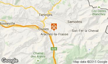 Carte Les Carroz d'Araches Gite 634