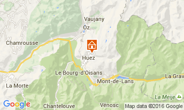 Carte Alpe d'Huez Studio 69559