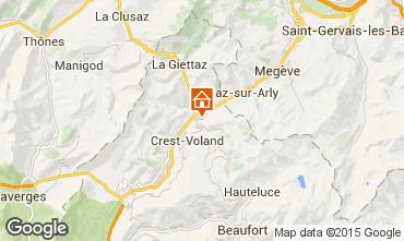 Carte Flumet Val d'Arly Appartement 80441