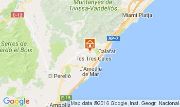 Carte La Ametlla de Mar Villa 107484