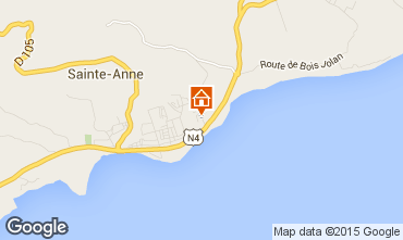 Carte Sainte Anne (Guadeloupe) Gite 83360