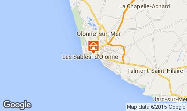 Carte Les  Sables d'Olonne Appartement 84878