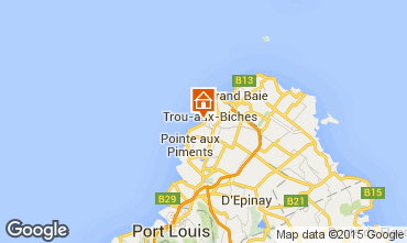 Carte Trou-aux-biches Bungalow 28556