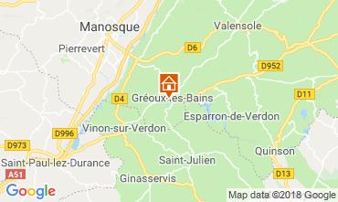 Carte Gréoux Les Bains Villa 117404
