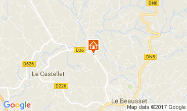 Carte Le Castellet Villa 92074