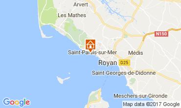Carte Saint Palais sur Mer Studio 112581