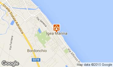 Carte Bellaria Igea Marina Appartement 80890