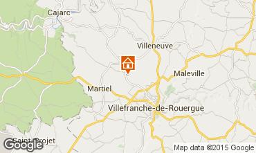Carte Villefranche de Rouergue Gite 91089