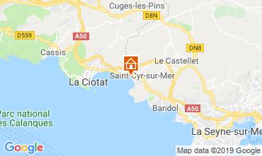 Carte Saint Cyr sur Mer Appartement 119367