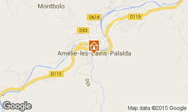 Carte Amélie-Les-Bains Studio 80375