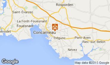 Carte Concarneau Gite 77683