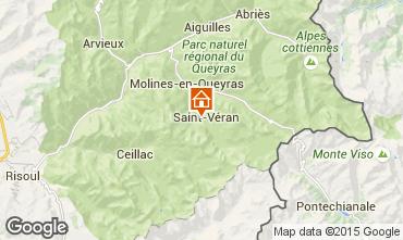 Carte Molines Saint-V�ran Chalet 1575