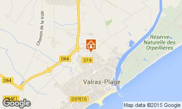 Carte Valras-Plage Mobil-home 81101