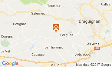 Carte Lorgues Villa 110209