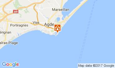 Carte Cap d'Agde Appartement 110685