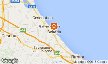 Carte Bellaria Igea Marina Appartement 69763