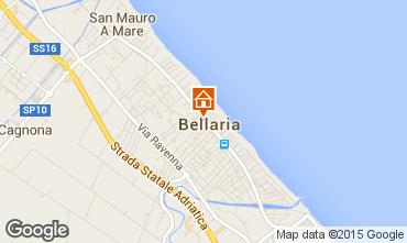Carte Bellaria Igea Marina Appartement 69763