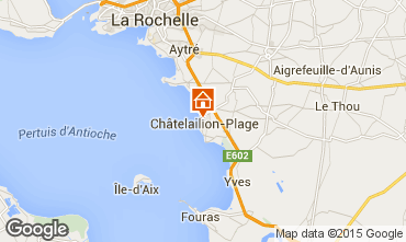 Carte Châtelaillon plage Chalet 70115