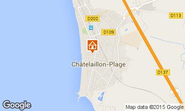 Carte Ch�telaillon plage Chalet 70115