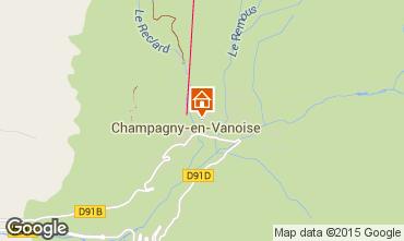 Carte Champagny en Vanoise Gite 100744