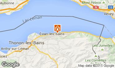 Carte Evian les Bains Gite 14092