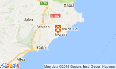 Carte Moraira Villa 115607