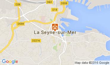 Carte La Seyne sur Mer Villa 95455