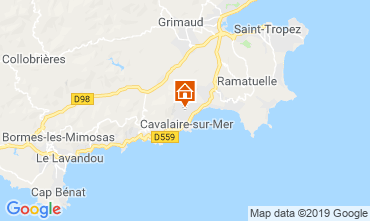 Carte Cavalaire-sur-Mer Villa 118273