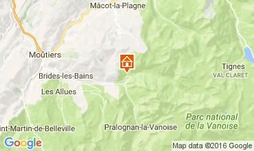 Carte Champagny en Vanoise Studio 106489