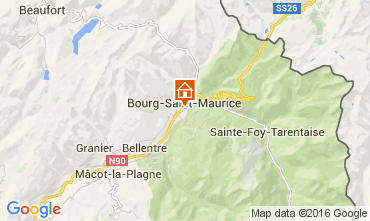 Carte Bourg saint Maurice Appartement 106036