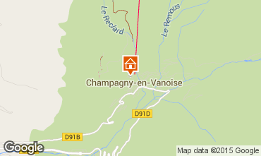 Carte Champagny en Vanoise Appartement 69458