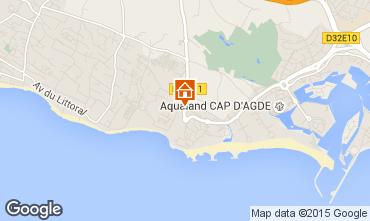 Carte Cap d'Agde Villa 38995