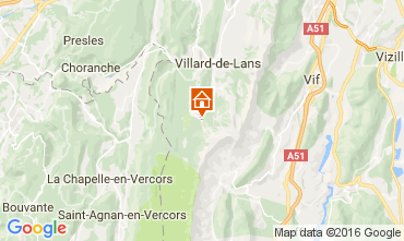 Carte Villard de Lans - Corrençon en Vercors Appartement 3643