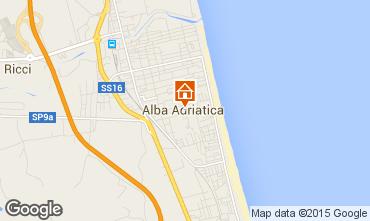 Carte Alba Adriatica Appartement 40987