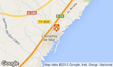 Carte La Ametlla de Mar Appartement 64059