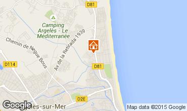 Carte Argeles sur Mer Appartement 9849