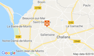 Carte Saint Jean de Monts Gite 93374