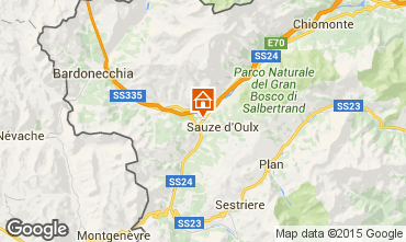 Carte Sauze d'Oulx Appartement 59612