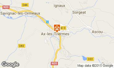 Carte Ax Les Thermes Appartement 75694
