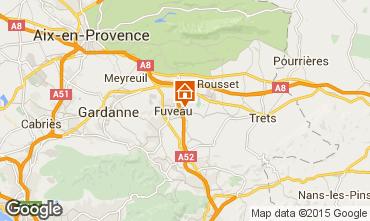Carte Aix en Provence Gite 16325
