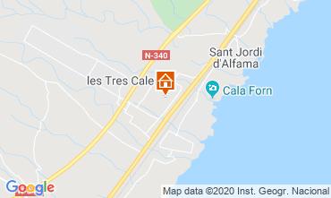 Carte La Ametlla de Mar Villa 114098